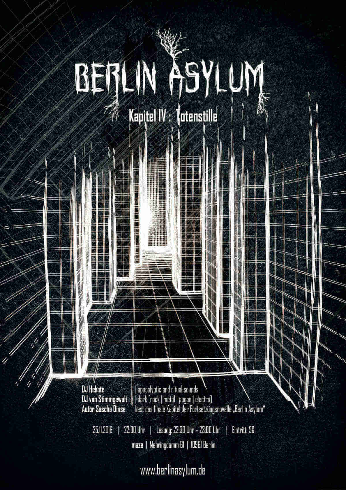 Poster Berlin Asylum Totenstille
