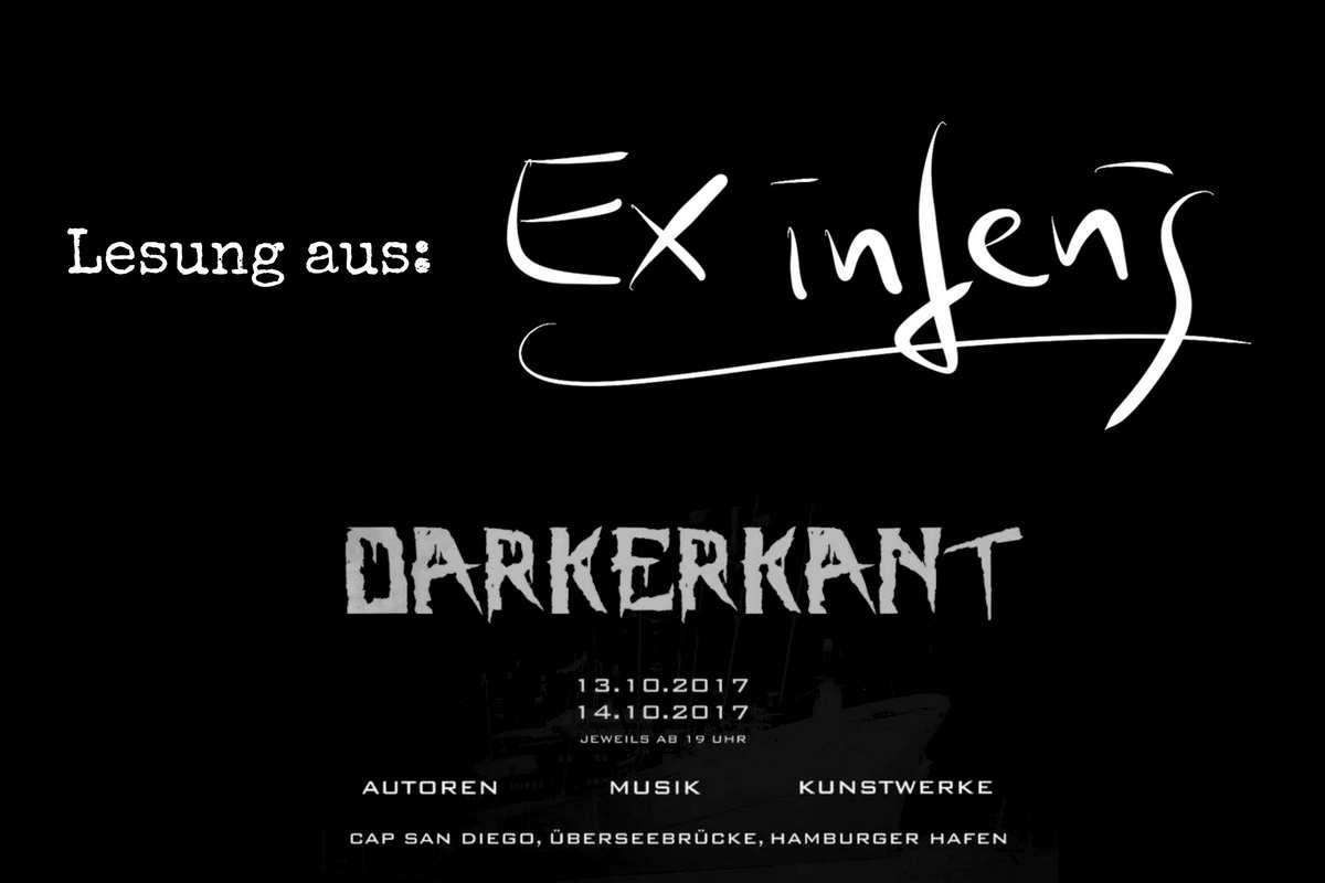 Sascha Dinse liest auf dem DARKERKANT Kunstfestival in Hamburg am 13.10.2017