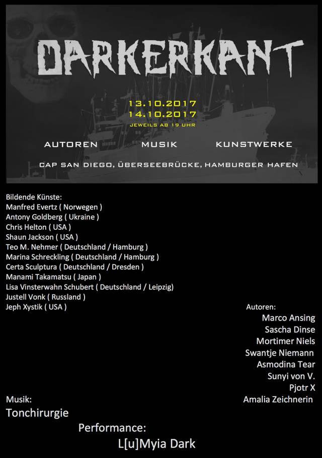 Liste der Künstler beim Darkerkant in Hamburg, u.a. Sascha Dinse