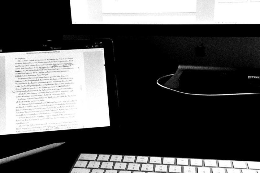 rechner und ipad schriftstellerdinge