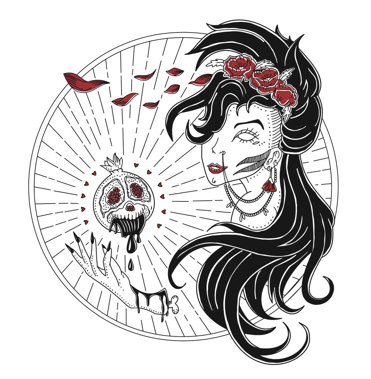 persephone, illustration von elisa garrett